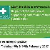 ASIST in Birmingham – 2 Day Training 9th & 10th February 2017
