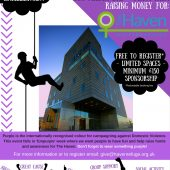 Sponsored abseil for The Haven