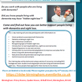 Dementia & Sight Loss Workshop – Birmingham