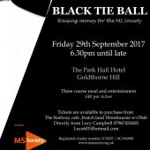 MS Society – Black Tie Ball – 29th September 2017