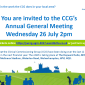 CCG Annual General Meeting – 26th July 2017