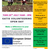 Gatis Volunteering Open Day – Tuesday 25th July