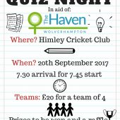 The Haven – 'The Big Quiz Night' – 20th September