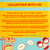 Volunteer with 'Funny Things'