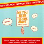 Joke Exchange Silent Flash Mob