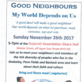 'Good Neighbours' – Bring & Share Meal