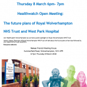 Healthwatch Open Meeting – 8th March