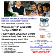 Language At Work Programme – Park Village – 18th April