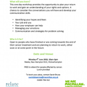 MacMillan – Building Confidence To Return To Work With/After Cancer